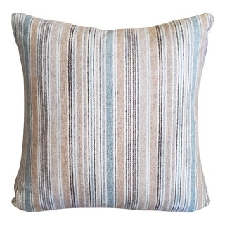 Custom Muted Stripe Pillow For Sale