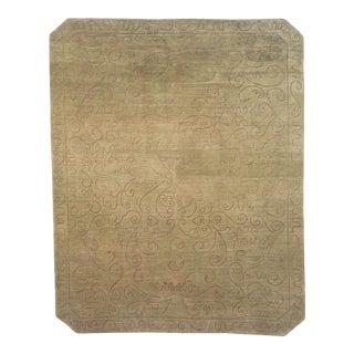 Modern Odegard Hand-Crafted 100% Wool Sage Green Tibetan Rug- 13′3″ × 18′6″ For Sale