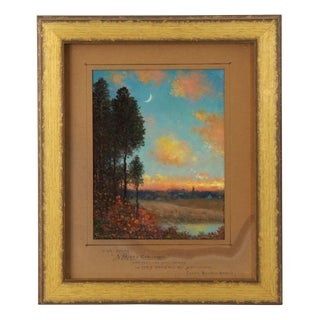 "Circa 1922 Authentic ""New Moons"" Landscape Painting by Frank Russell Green For Sale"