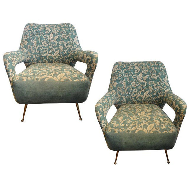 1960s Vintage Italian Gio Ponti Inspired Lounge Chairs- A Pair For Sale - Image 11 of 11