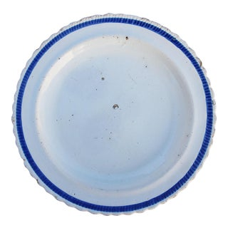 18th Century French Plate, Faience, Glazed Earthenware For Sale