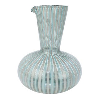 A Canne' Glass Carafe by Gio Ponti for Venini Glass For Sale