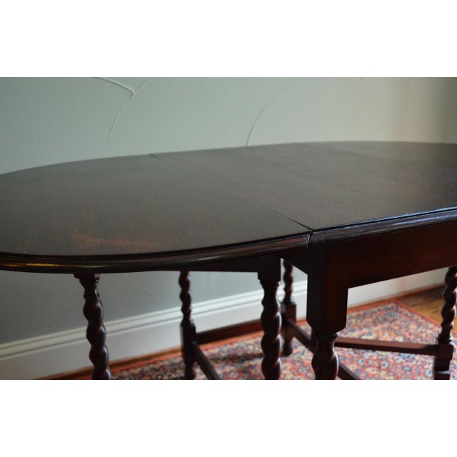 Early 20th Century Early 20th Century Antique English Oak Table For Sale - Image 5 of 7