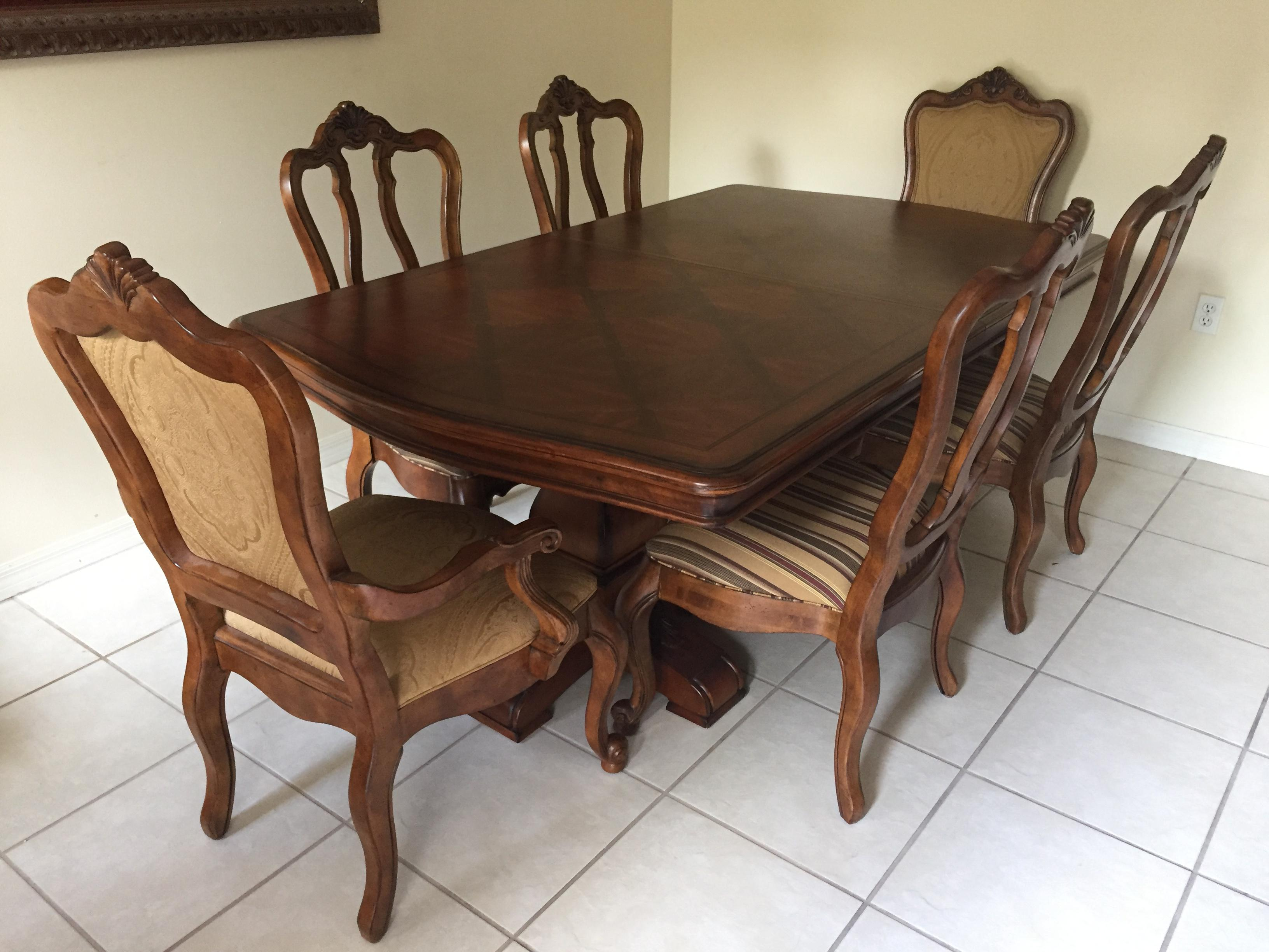 High Quality Ethan Allen Tuscany Dining Set   Set Of 7   Image 2 Of 11