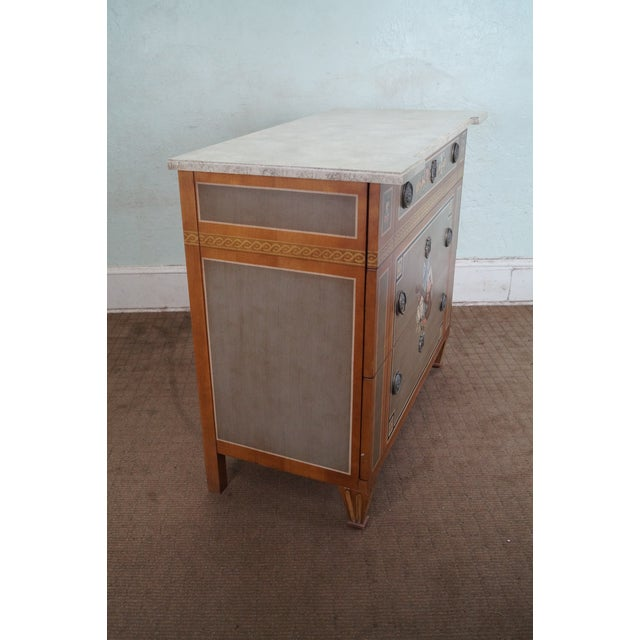 Drexel Heritage Paint Decorated French Style Chest - Image 3 of 10