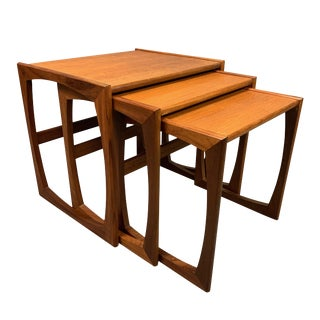 "1960s Mid Century Modern G Plan Teak ""Quadrille"" Nesting Tables - Set of 3 For Sale"