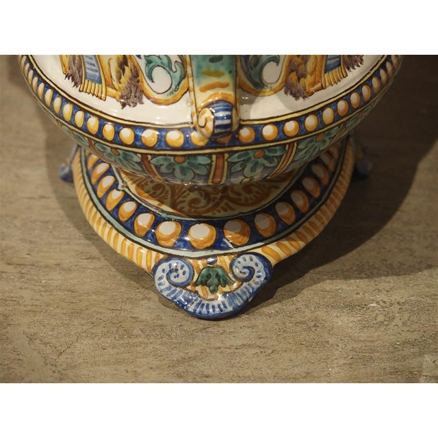 19th Century French Faience Jardiniere, Antoine Montagnon, Nevers For Sale - Image 10 of 13