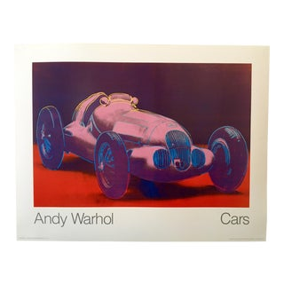 1980s Pop Art Poster of Formula One Car by Andy Warhol For Sale