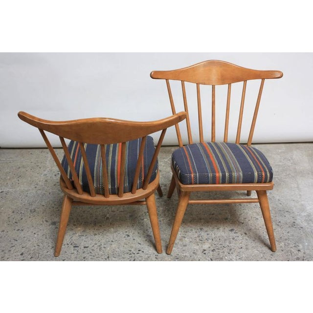 1950s 1950s Russel Wright for Conant Ball Spindle Back Accent Chairs - A Pair For Sale - Image 5 of 10