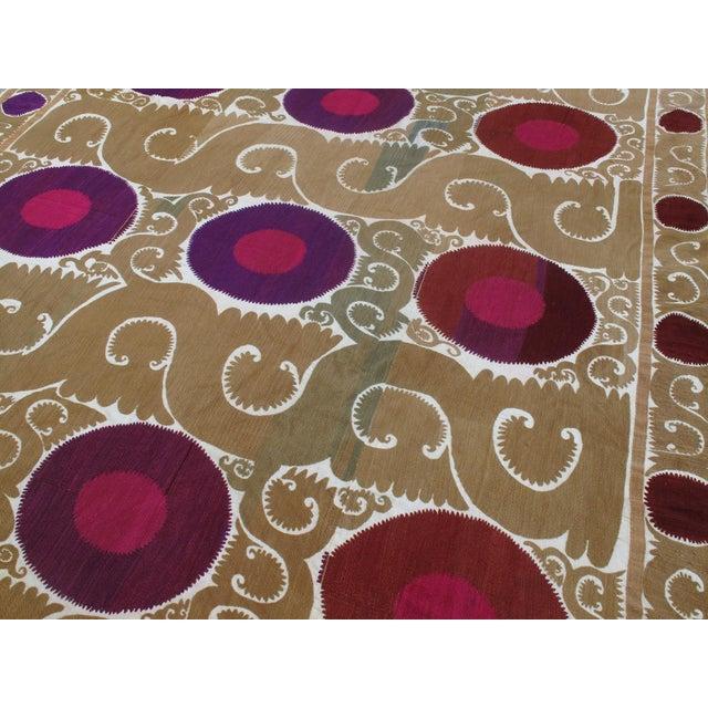 Traditional Samarkand Suzani For Sale - Image 3 of 7