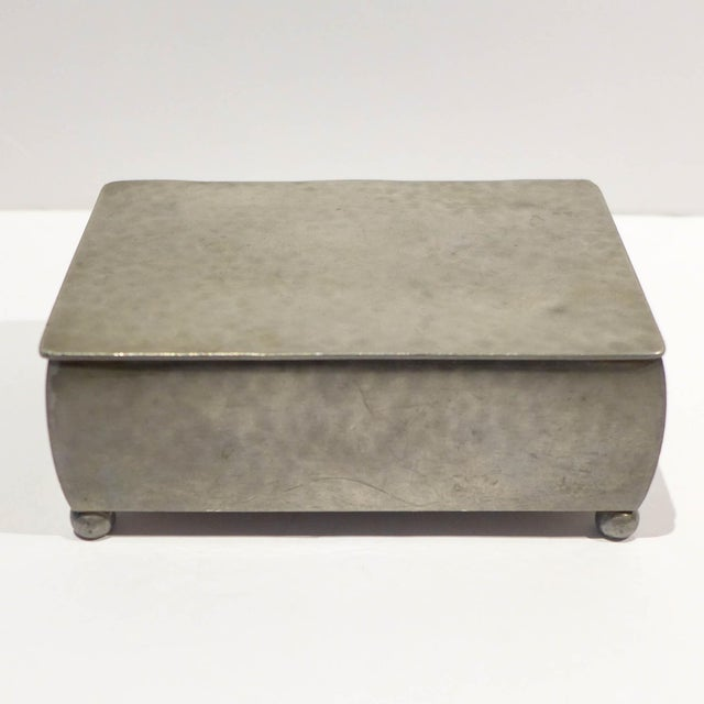 Just Andersen Modernist Footed Pewter Box by Just Andersen For Sale - Image 4 of 8