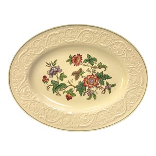 Vintage Wedgewood Patrician Tapestry Collection Oval Platter For Sale
