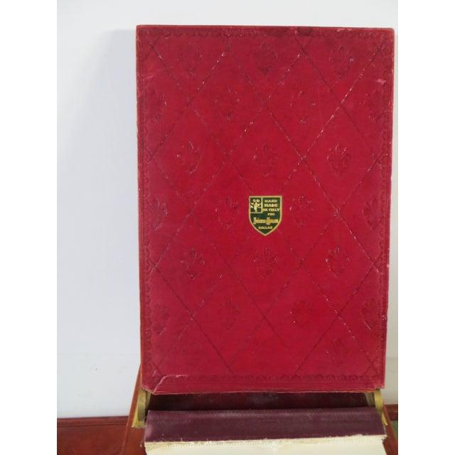 Vintage Neiman Marcus Italian Leather Desk Set For Sale - Image 4 of 5