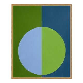 """""""Green & Blue Forever"""" Large Gold Framed Print by Stephanie Henderson For Sale"""