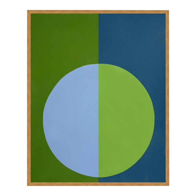 Green & Blue Forever Large Gold Framed Print by Stephanie Henderson For Sale
