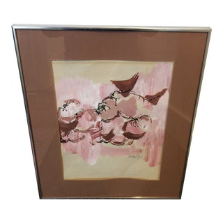 1970s Abstract Figurative Painting, Framed For Sale