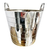 Image of 1907 Silver Plated Champagne Bucket From Amazon River Steamship Co For Sale