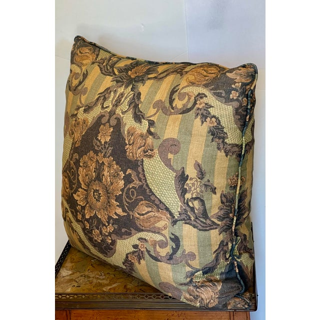 Nancy Corzine 24 Inch Down Filled Linen Throw Pillow - 1 of 3 Available.