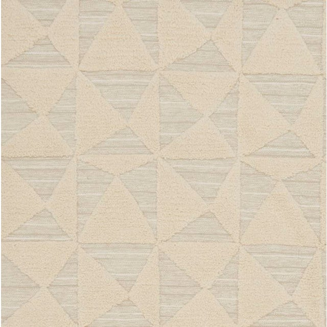 Contemporary Schumacher Patterson Flynn Martin Gerrits Handwoven Wool Silk Geometric Rug For Sale - Image 3 of 5