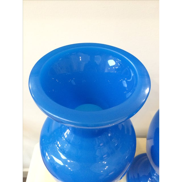 Turquoise Blue Opaline Vases - A Pair - Image 5 of 7