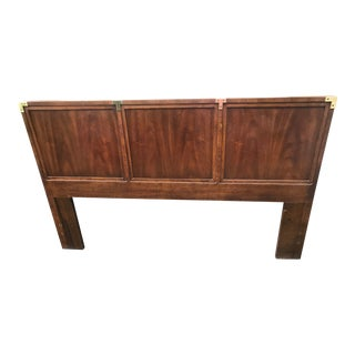 Henredon Queen Size Campaign Style Headboard For Sale