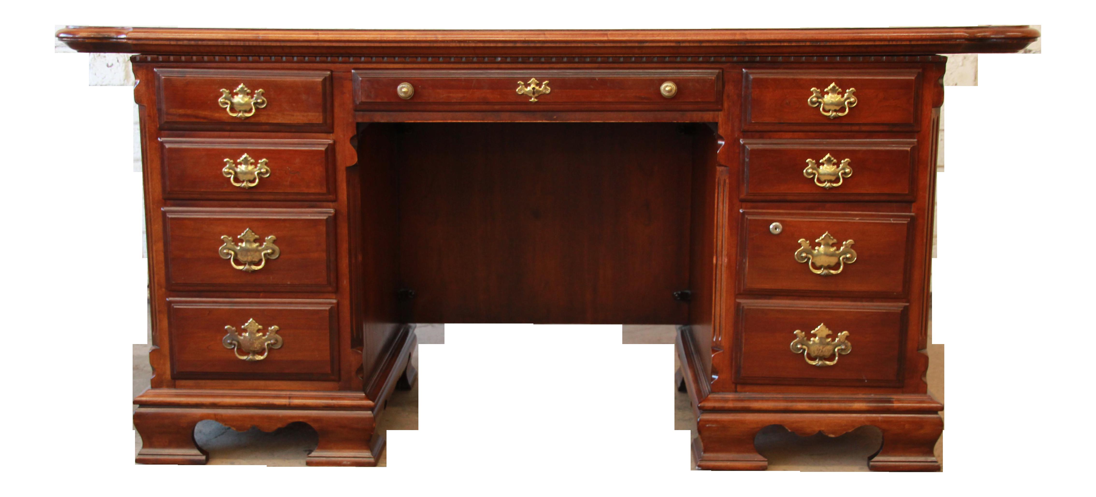 Delicieux Lexington Furniture Cherry Wood Executive Desk