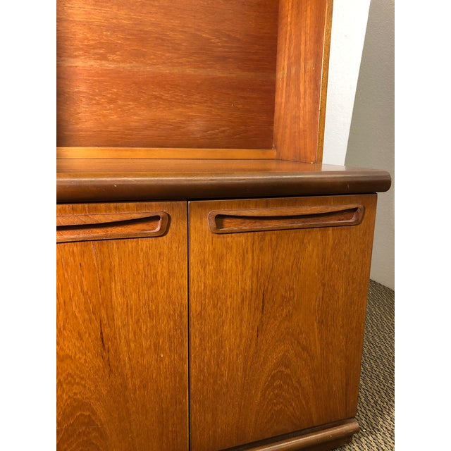 Brown Midcentury Teak Wall Unit by Meredew For Sale - Image 8 of 13