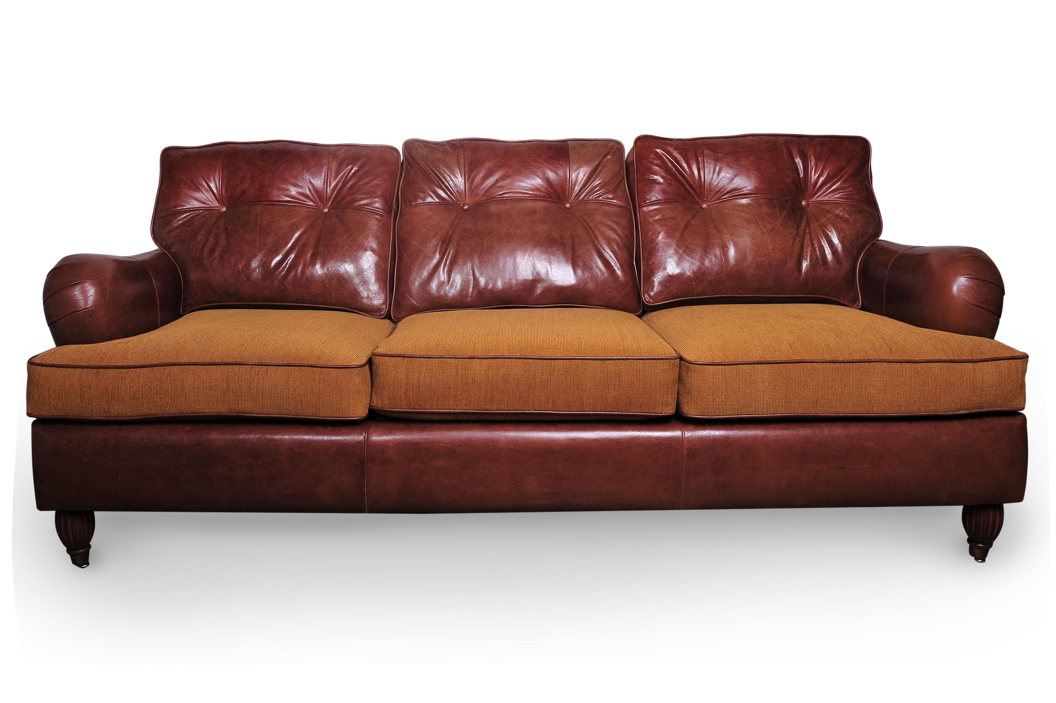 Ordinaire This Is A Very Comfortable English Rolled Arm Sofa. Newly Re Upholstered In  Genuine