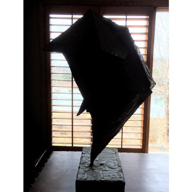 Mid 20th Century Geometric Copper and Steel Sculpture For Sale - Image 5 of 8
