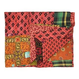 Eclectic Patchwork Vintage Kantha Quilt