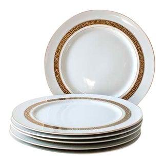 Greek Key Dinner Plates - Set of 6 For Sale
