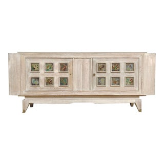 1940s French Cerused Oak Sideboard For Sale