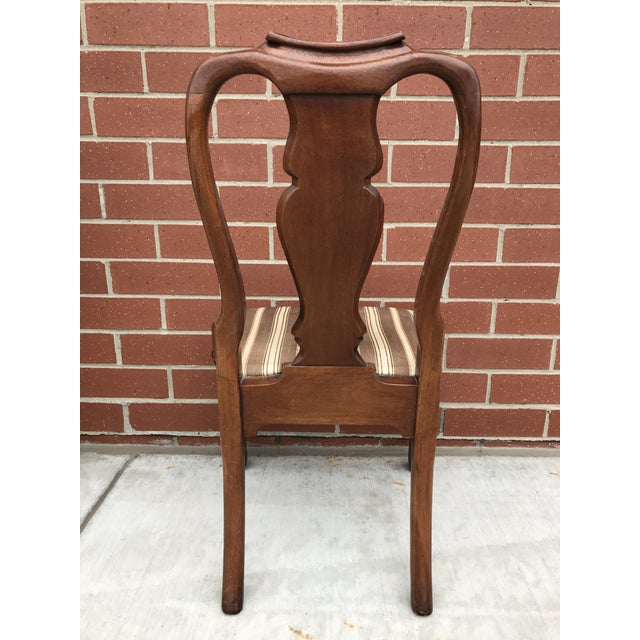 Armless Queen Anne Style Dining Chairs - Set of 12 - Image 5 of 6