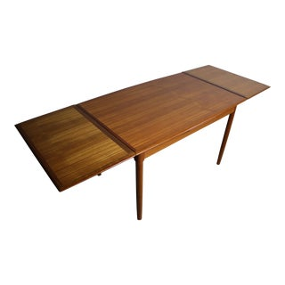 Mid-Century Teak Extension Dining Table For Sale