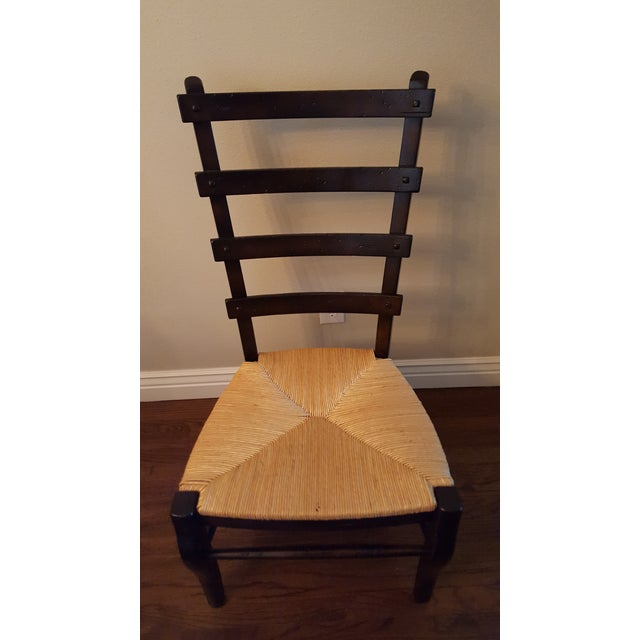 Ladder-Back Dining Chairs With Rush Seats - S/4 - Image 2 of 4