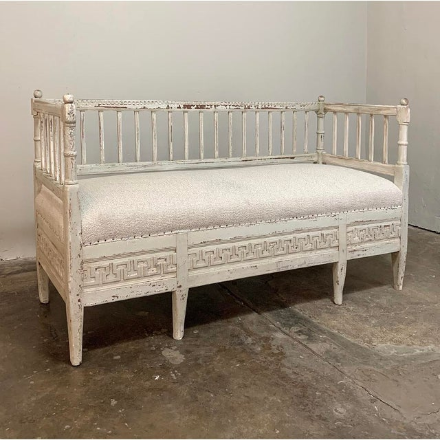 19th Century Swedish Painted Day Bed ~ Bench For Sale - Image 4 of 13