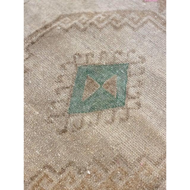 Textile 1950s Vintage Oushak Runner Rug - 2′10″ × 13′3″ For Sale - Image 7 of 13
