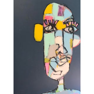"""Contemporary Abstract Face Painting by Sarah Trundle, """"Just Looking"""" For Sale"""