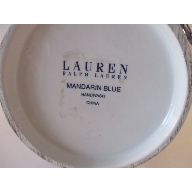 Late 20th Century Vintage Ralph Lauren Ginger Jar in Blue and White Mandarin Blue For Sale - Image 5 of 6