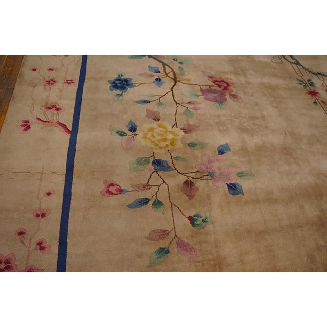 1920s 1920s Antique Chinese Art Deco Rug-9′ × 11′9″ For Sale - Image 5 of 6