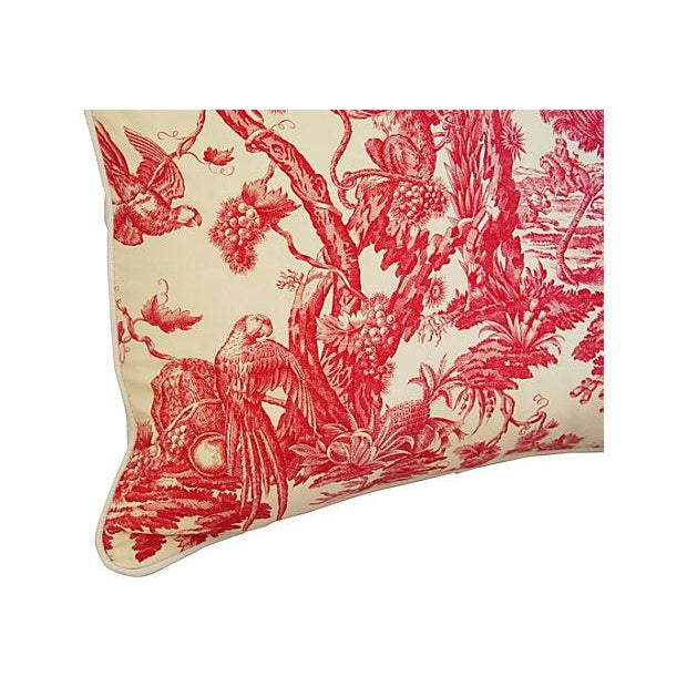 French Marius Boudin Toile & Linen Pillow - Image 6 of 7
