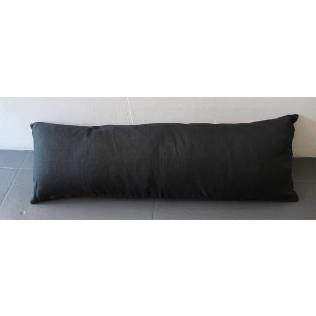 Amazing Large Mexican American Bolster Pillow For Sale - Image 4 of 5