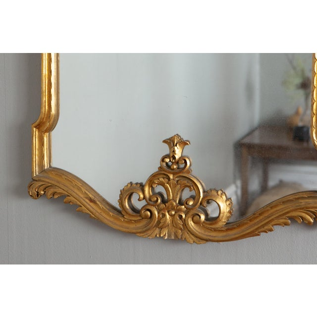 French 19th Century French Louis XVI Style Carved Gilt Classical Mirror For Sale - Image 3 of 7