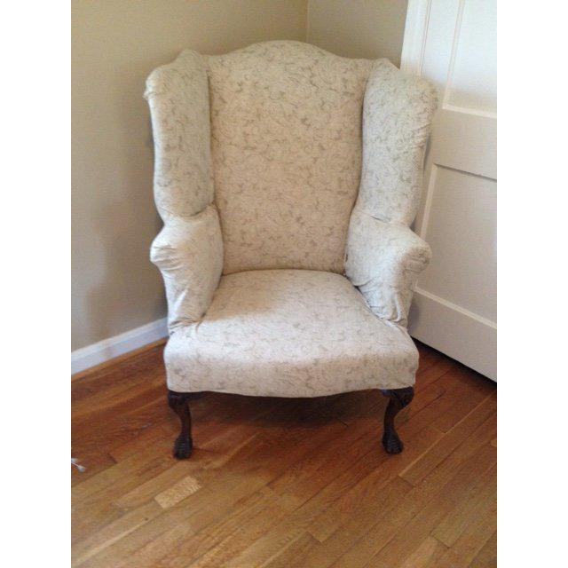 A very comfortable, sturdy mid-20th century wingback chair. This chair feels like a new chair to sit on; the springs are...