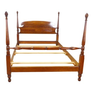 Stickley Solid Cherry Queen Poster Bed For Sale