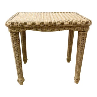 Wicker Side Table For Sale