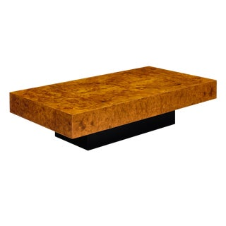 Mid-Century Burl Ash Coffee Table For Sale