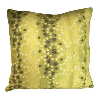Kim Salmela Citrine Floral Pillow For Sale