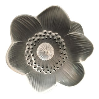 "Lalique ""Anemone"" Flower Paper Weight"