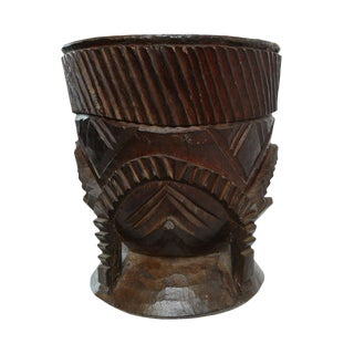 Wood Nupe Pot